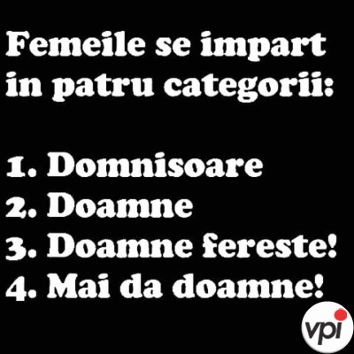 Categorii de femei