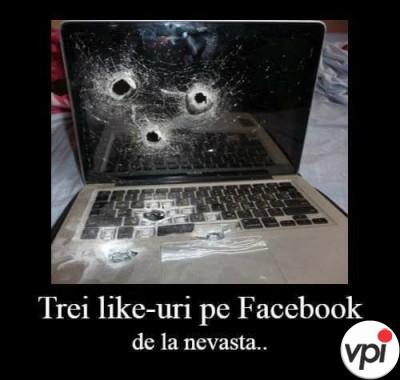 Like-uri pe facebook