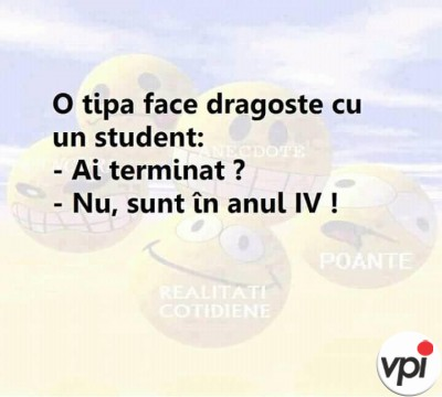 Studentul cand face dragoste
