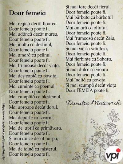 Doar femeia - Dumitru Matcovschi