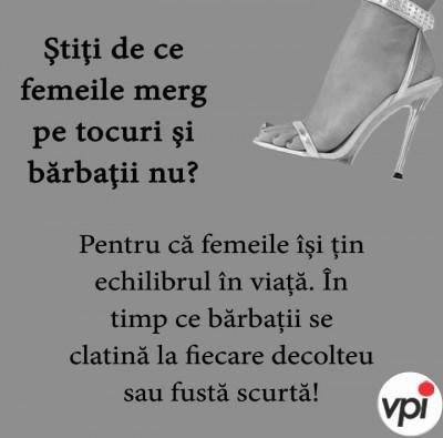 Femeile pe tocuri