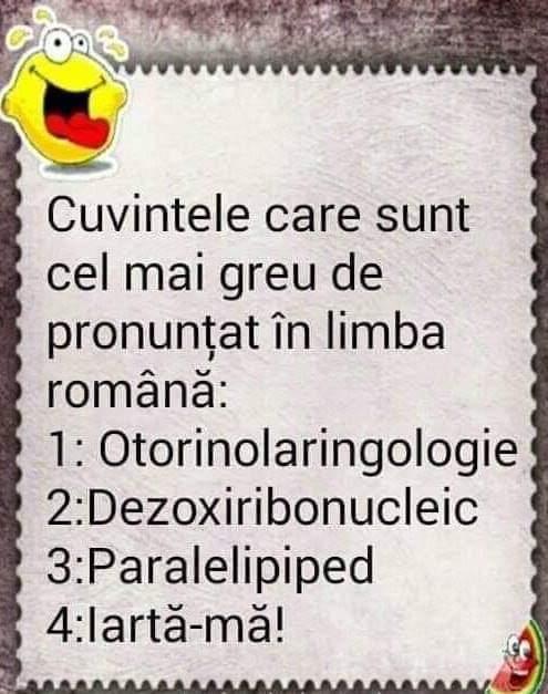 Cele mai grele cuvinte de pronuntat in romana