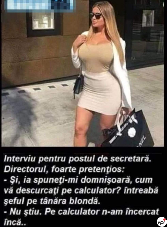 Interviu pentru secretară