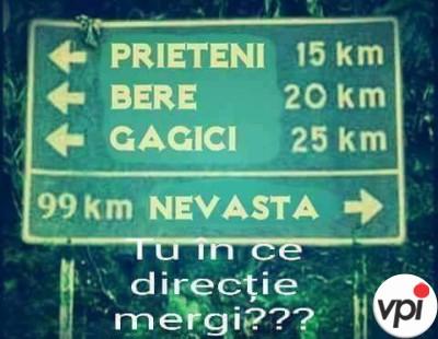În ce direcție mergi?