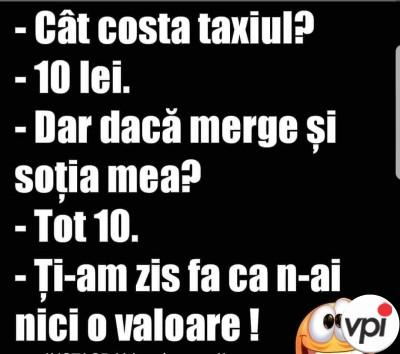 Cât costă taxiul