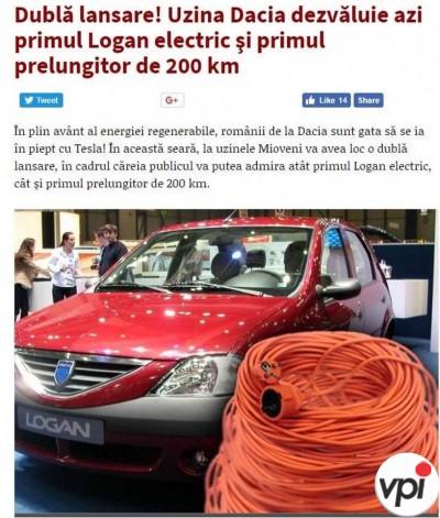 Prima Dacia Electrica