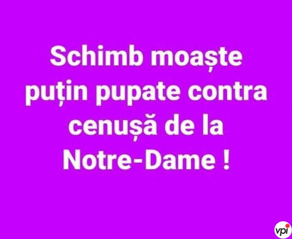 Cenușă  de la Notre-Dame