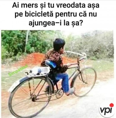 Bicicleta în copilărie