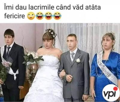 Fericire la nuntă