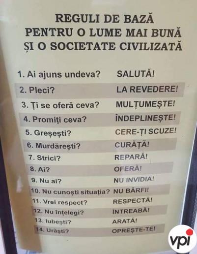 Reguli pentru o lume mai bună