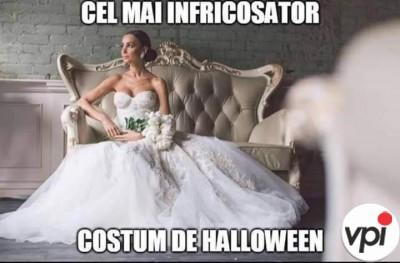 Cel mai înfricoșător costum de Halloween
