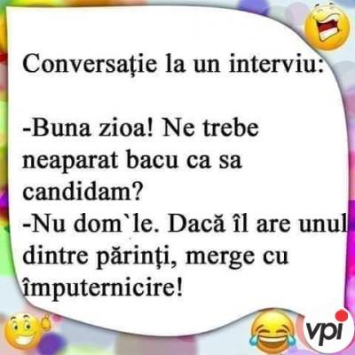 Conversație la un interviu
