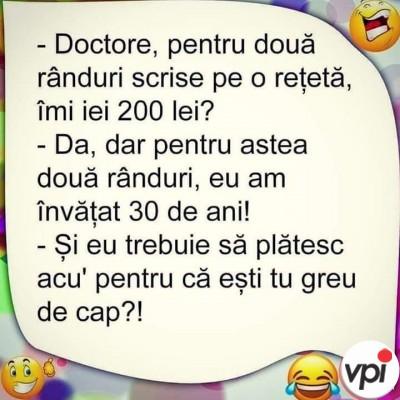 Plata la doctor