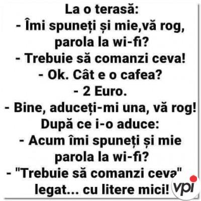 Parola de la Wi-fi