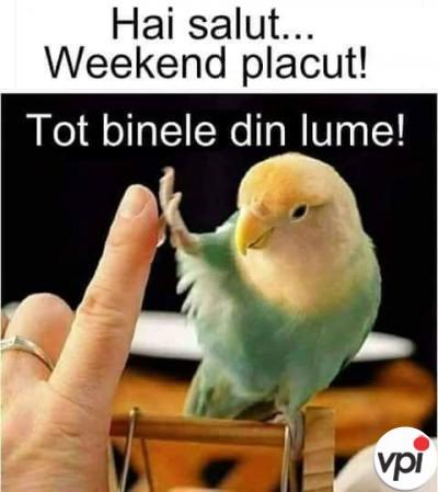 Să aveți un weekend plăcut!