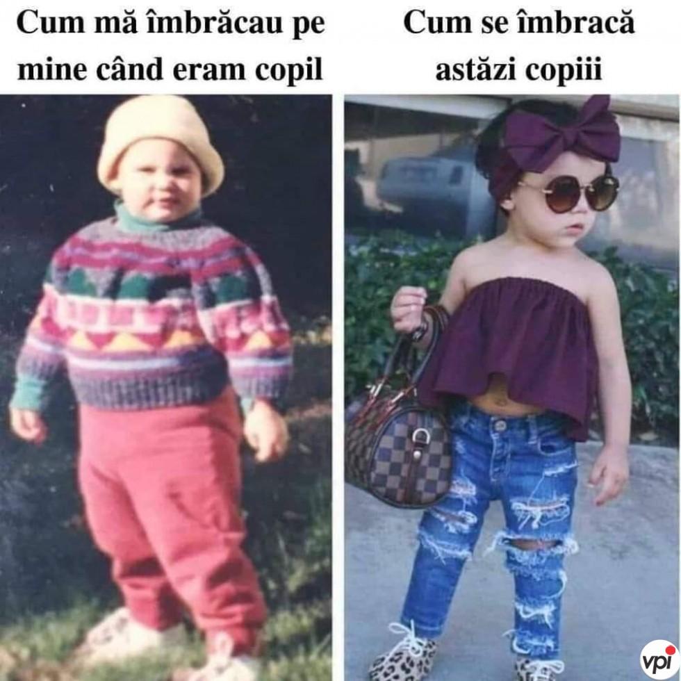Cum mă îmbrăcau în copilărie