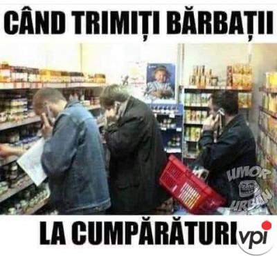 Bărbații la cumpărături