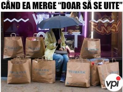 Femeia și cumpărăturile