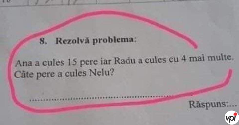 Problemă de matematică