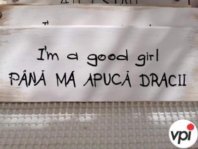 Sunt o fată cuminte!