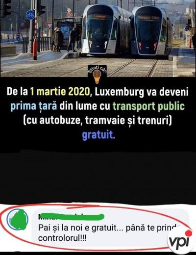 Transport gratuit în România