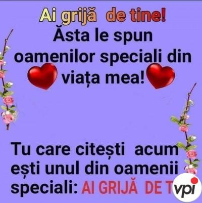 Pentru oamenii speciali din viața mea!