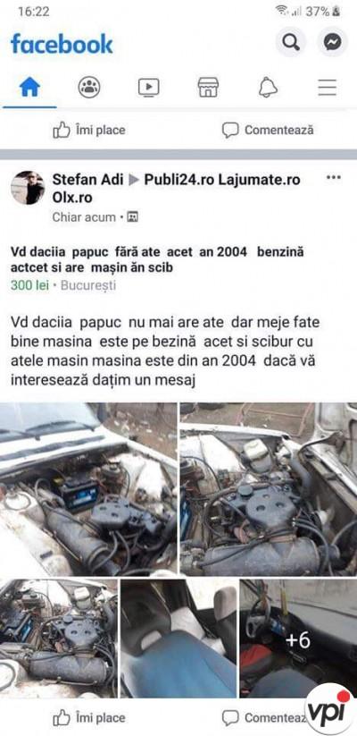 Vând Dacia Papuc