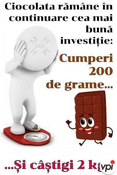 Ciocolata, cea mai bună investiție!
