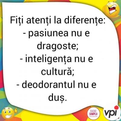 Atenție la diferențe!
