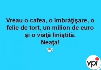 Neața! Vreau o cafea!
