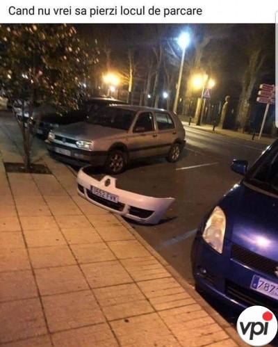 Cum păstrezi locul de parcare