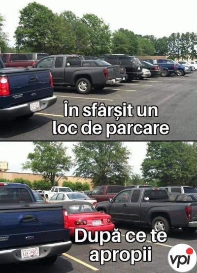 Când cauți loc de parcare