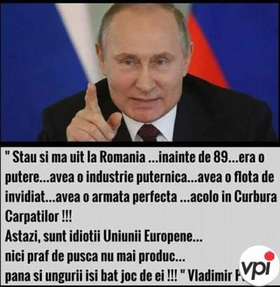 Putin despre România