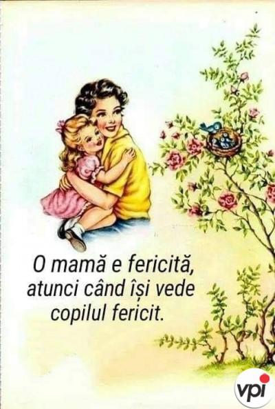 O mamă fericită