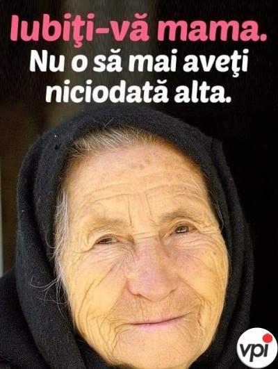 Iubiți-vă mama!