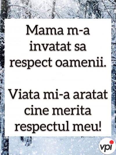 Respectul în viață