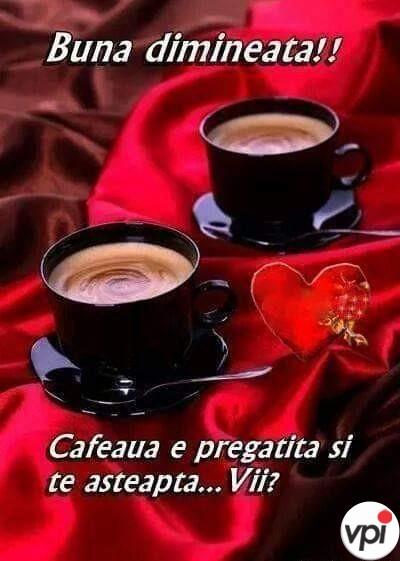 Bună dimineața! Cafeaua e gata!