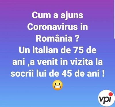 Cum a ajuns Coronavirus în România