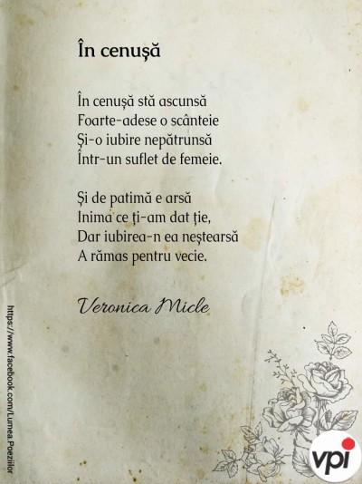 În cenușă - Veronica Micle
