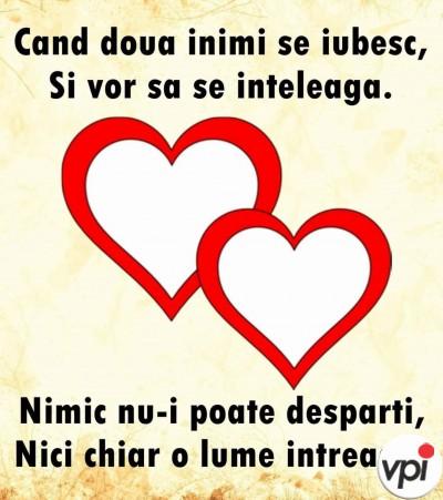 Când două inimi se iubesc