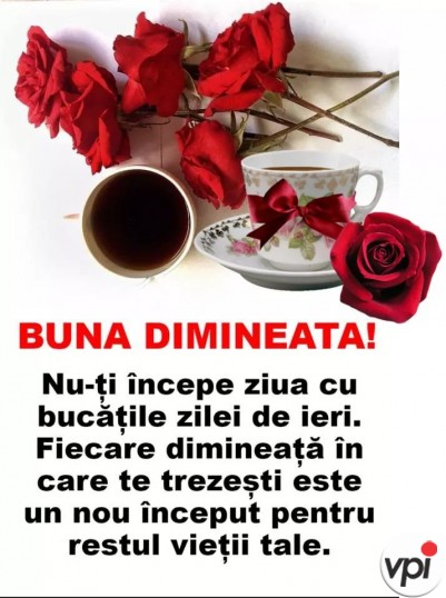 Bună dimineața! Un nou început!