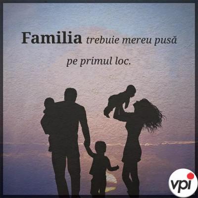 Familia e pe primul loc