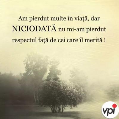 Respectul meu