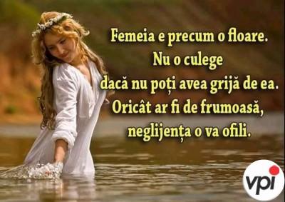 Femeia e precum o floare