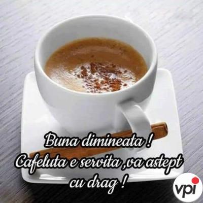 Bună dimineața! Cine vrea cafea?