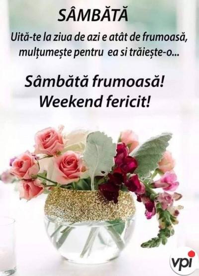 O sâmbătă minunată!