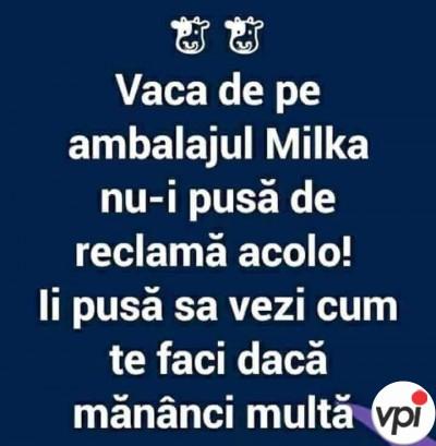 Vaca de pe ambalajul Milka