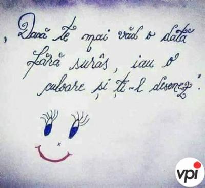 Vreau să te văd zâmbind!
