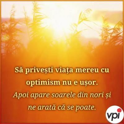 Fii optimistă!