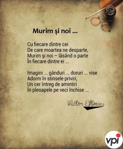 Murim și noi- Victor Eftimiu